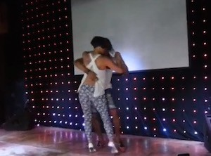 Morenasso and Anais in una performance di ballo kizomba