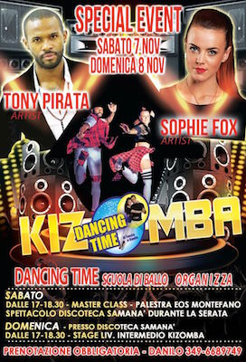Kizomba Dancing Time 2015 con Tony Pirata e Sophie Fox