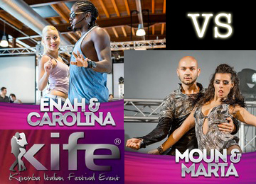 The battle of Urban Kiz - Enah e Carolina vs Moun e Marta