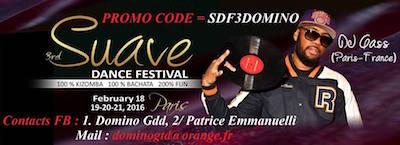 Suave Dance Festival dal 18 al 21 febbraio 2016 a Parigi