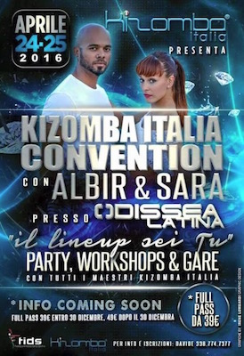 Kizomba Italia Convention con Albir e Sara