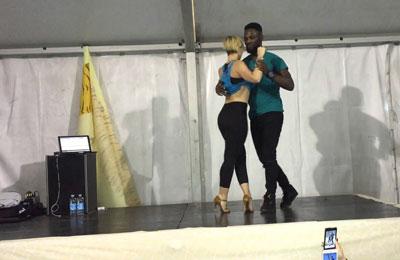 Curtis e Carola stage al Kizmi 2015
