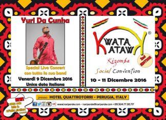 Yuri Da Cunha in concerto il 9 dicembre a Perugia