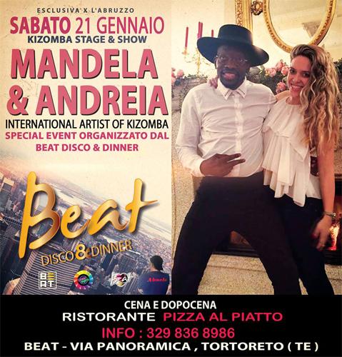 Mandela & Andreia al Beat di Tortoreto (TE) il 21 gennaio 2017