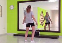 Riscaldamento donna per ballare kizomba: movimenti busto e anche