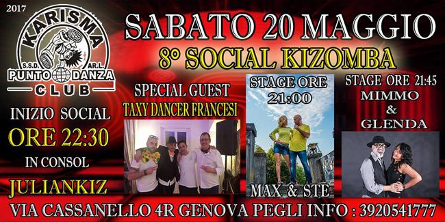 social kizomba del 20 maggio 2017 Genova