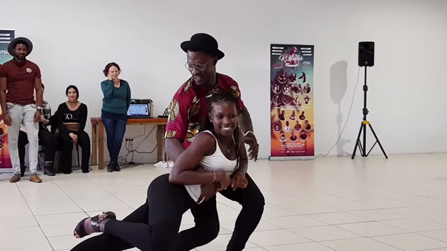 Tyron & Rokhaya workshop semba a All In Kizomba Festival 2017