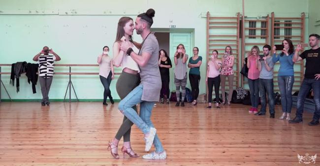 Fred & Krista stage urban kiz with tango influence in Lettonia