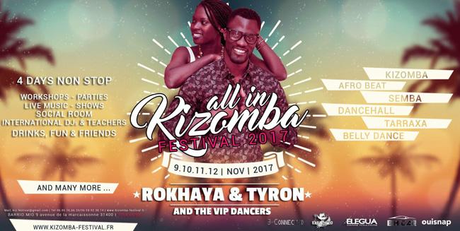 Tyron & Rokhaya stage semba in All In Kizomba Festival 2017
