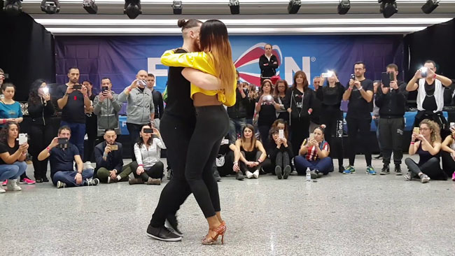 Isabelle & Félicien stage in Fusion Kizomba Roma 2018
