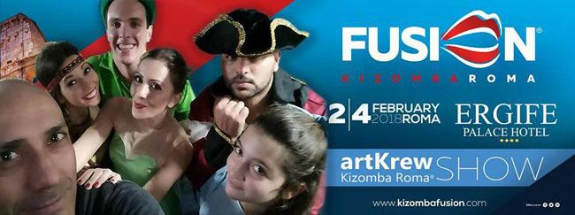 ArtKrew lo spettacolo a Fusion Kizomba Roma 2018
