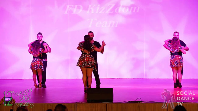 Il FD Kiz Zdom tra semba e kiz show al Balcan Salsa Congress 2018